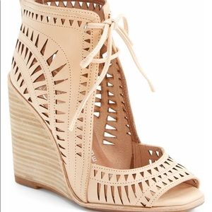 Jeffrey Campbell Rodillo high Wedges Nude 8.5